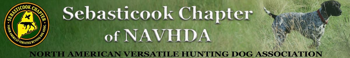 Banner image for Sebasticook Chapter of NAVHDA.